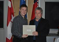 Co-op Consultant Stan Ryba presents Ben with his award. Congratulations Ben!